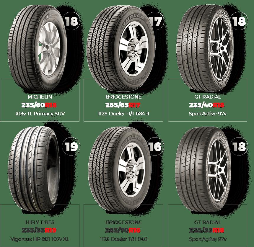 loja de pneus suv